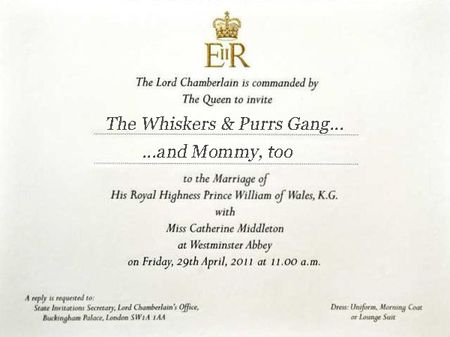 Royal Wedding invitation copy