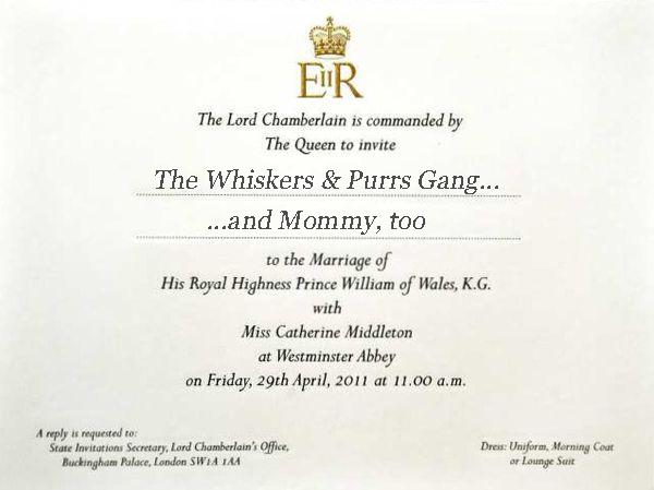 Royal Wedding invitation copy